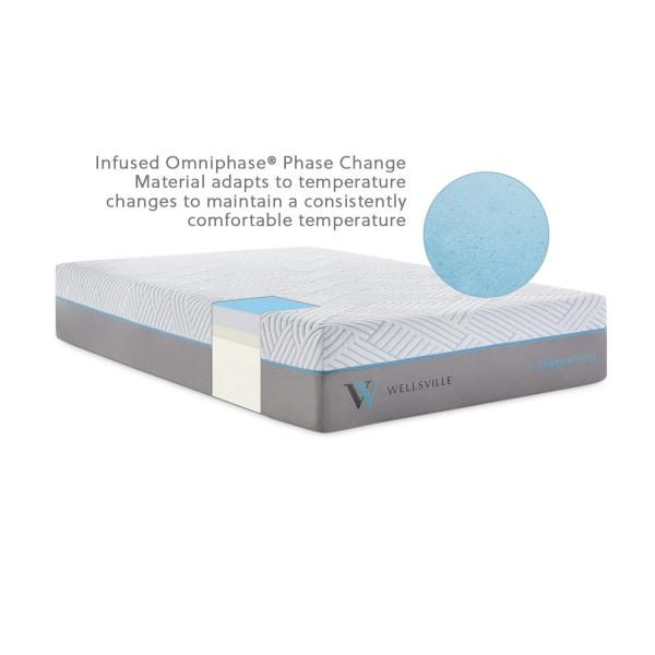 wellsville 14inch carboncool mattress omniphase feature