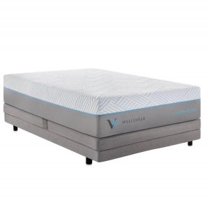 wellsville carboncool mattress on bed framne